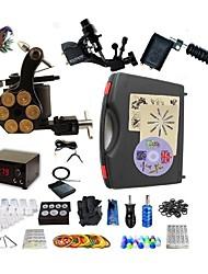 Kit de tatouage complet2 x Machine à tatouer rotative pour le traçage et l'ombrage 1 machine de tatouage x alliage pour la doublure et
