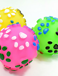 Cat Toy Dog Toy Pet Toys Ball Chew Toy Interactive Teeth Cleaning ToySqueak / Squeaking Durable Elastic Dog Footprint Nobbly Wobbly