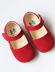 Extérieure Habillé Décontracté-Noir Marron Rouge-Talon Bas-Flower Girl Chaussures-Ballerines-Laine synthétique