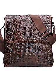 Genuine Leather Men Bag For Mele Crocodile Style Men's Business Messenger Bag Tablet PC Handbag