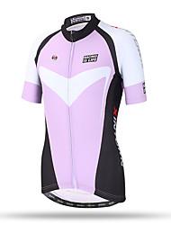XINTOWN® Women's Cycling Jersey Short Sleeve Road Bike Jersey Jacket Purple Full Zip