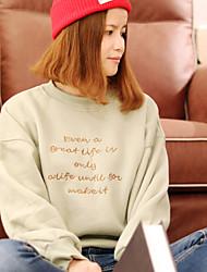 unterzeichnen Buchstaben gestickt Kaschmir-Pullover weibliche lose langärmliges Hemd Freizeithemd Student Zustrom Absicherung