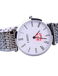 Montre Tendance Quartz Alliage Bande Blanc Blanc