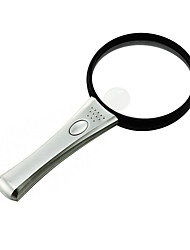 Multifunction Handheld 2.5X/4X 90mm Reading 2-LED Magnifier