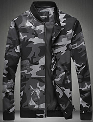 Club Simple Jacket,Camouflage Stand Long Sleeve Winter Hand wash Dry flat Cotton Regular