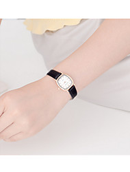 Mulheres Relógio Esportivo Quartzo / Aço Inoxidável Banda Vintage Preta Branco Marrom