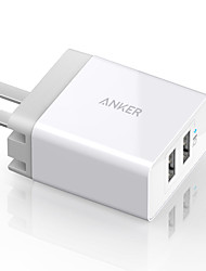 Anker® 20W 2-Port USB Wall Charger with US Plug and PowerIQ Technology for iPhone iPad Samsung Nexus HTC Motorola LG