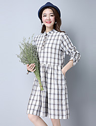 Sign 2017 spring new family name wind cotton plaid dress code installed