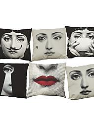 """ensemble de 6 lina cavalieri housse de coussin de lin housses d'oreiller décoratifs en meuble à la maison (18 """"* 18"""")"""