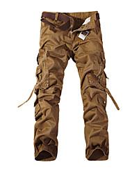 Hombre Pantalones de Running Transpirable para Ejercicio y Fitness Algodón Terileno Delgado Amarillo Verde M L XL