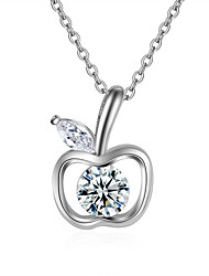 Necklace AAA Cubic Zirconia Pendant Necklaces Jewelry Wedding Party Special Occasion Engagement Apple Design