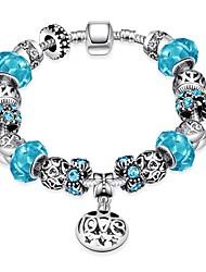 Bracelet Chain Bracelet Charm Bracelet Crystal Alloy Silver Plated IrregularNatural Friendship Turkish Fashion Vintage Bohemia Punk