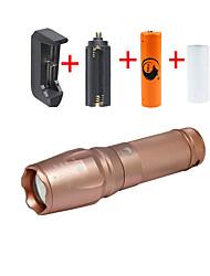 Eclairage Lampes Torches LED Kits de Lampe de Poche LED 2000 Lumens 5 Mode Cree XM-L T6 18650 26650 Faisceau Ajustable