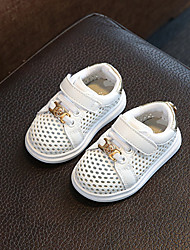 Baby Flats Spring Fall First Walkers Leatherette Outdoor Casual Low Heel Magic Tape Gold Silver Walking