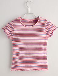 Tee-shirts bébé Rayé Décontracté / Quotidien-Coton-Eté-Rose