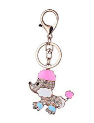 Key Chain Key Chain Dog Chic & Modern Creative Leisure Hobby Pink Metal