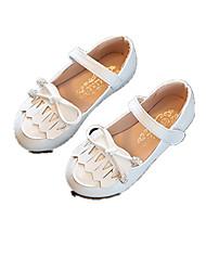 Extérieure Habillé Décontracté-Rose Blanc Gris-Talon Bas-Flower Girl Chaussures-Ballerines-Similicuir