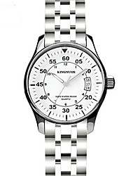Fashion Watch Calendar Water Resistant / Water Proof Quartz Stainless Steel Band Casual Cool Silver