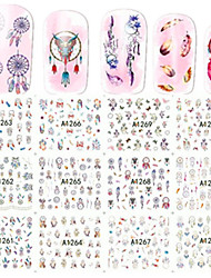 1pcs 12 design Nail Art Sticker Dream Wet Nail Design Water Transfer Decals  A1261-1272