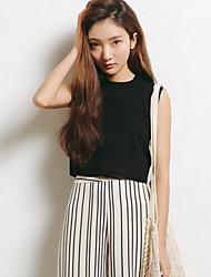 Spot-Modell real in Sommer erschossen 2017 neue koreanische Version des Baumwollnormallack ärmelloses T-Shirt kultiviert