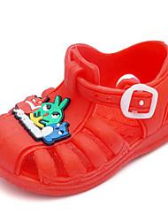 Sandálias-Conforto-Rasteiro-Azul Vermelho-PVC-Casual