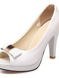 Damen-Sandalen-Lässig Party & Festivität Kleid-PU-Blockabsatz-Andere-Weiß Rosa Mandelfarben