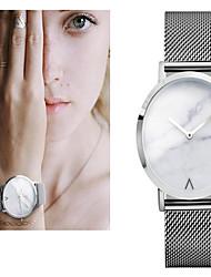 Mulheres Relógio Elegante Relógio de Moda Relógio de Pulso Bracele Relógio Quartzo Colorido Mostrador Grande Aço Inoxidável Banda Vintage