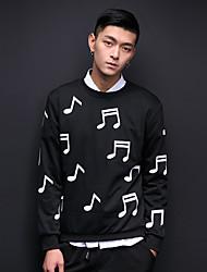 Frühjahr 2017 neue Pullover Pullover Rundhals männliche Model Musik Studioaufnahme Symbol