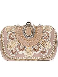 L.west Women Elegant High-grade Beading Diamonds Evening Bag