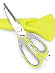 kitchen scissors knife Multifunction Scissors 7 in 1 Stainless Steel Kitchen multifunction scissors - Green