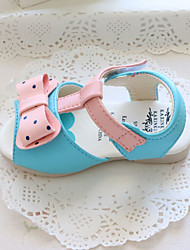 Baby Flats First Walkers Leatherette Summer Casual Outdoor Walking First Walkers Magic Tape Low Heel White Blue Blushing Pink Flat