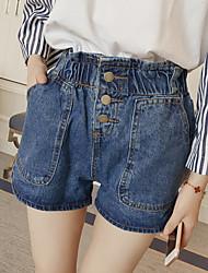 лето новый корейский дикий был худым упругие талии брюки моды случайные денима шорты