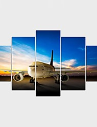 Stretched Canvas Print Landscape Still Life Modern,Five Panels Canvas Any Shape Print Wall Decor For Home Decoration