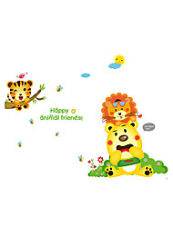 Wall Stickers Wall Decals Style Cartoon Lion Bear PVC Wall Stickers