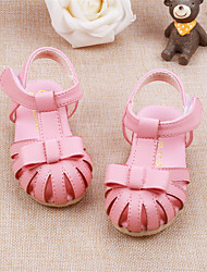 Baby Flats Summer First Walkers Cowhide Outdoor Casual Low Heel Magic Tape White Pink Walking