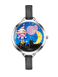 Women's Kid's Kids' Fashion Watch Wrist watch Quartz Casual Watch PU Band Cartoon Black