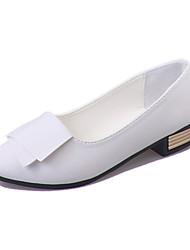 Women's Flats Comfort PU Spring Outdoor Walking Comfort Low Heel White Black Ruby Under 1in
