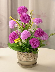 1 Branch Plastic Fiber Chrysanthemum