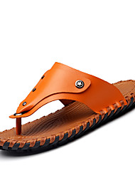 Slippers & Flip-Flops Spring Summer Fall Comfort Nappa Leather Outdoor Office & Career Casual Brown Water Shoes