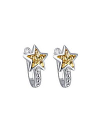 Stud Earrings Crystal Zircon Gold Jewelry Daily Casual 1 pair