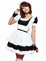 Costumes de Cosplay Tenus de Servante Fête / Célébration Déguisement d'Halloween Rose Noir Couleur Pleine Carnaval Féminin Coton