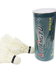 3pcs Badminton Feather Shuttlecocks Shuttlecocks Low Windage High Strength High Elasticity Durable for Duck Feather