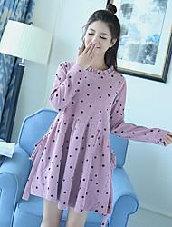Sign new spot printing dots loose dress