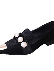 Loafers & Slip-Ons Spring Summer Fall Comfort PU Office & Career Dress Casual Low Heel Imitation Pearl Multi-color