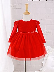 Baby Casual/Daily Solid Dress Cotton Nylon Spring/Autumn Dress