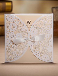 50set/Lot Romantic Wedding Party Invitation Card Envelope Delicate Carved Butterlies Pattern Hollow Out Wedding Invitation Envelope
