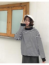 Zeichen Frühjahr neue koreanische Frauen mit langen Ärmeln Kaschmir gestreiften Pullover lose Freundinnen Absicherung
