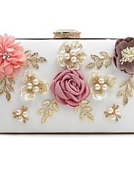 L.west Women Elegant High-grade Diamonds Flower Pearl Evening Bag
