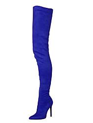 Желтый Пурпурный Зеленый Синий Вино-Для женщин-Свадьба Для вечеринки / ужина-Ткань-На шпилькеБотинки