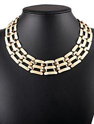 Women's Choker Necklaces Statement Necklaces Jewelry Single Strand Alloy Vintage Euramerican Statement Jewelry Fashion European Jewelry